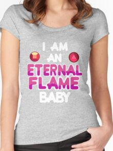 Eternal Flame Design Women's Fitted Scoop T-Shirt