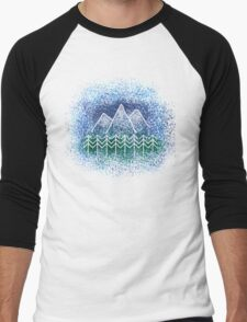Mountain Landscape Men's Baseball ¾ T-Shirt
