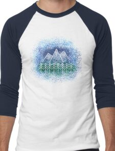 Mountain Landscape Men's Baseball ¾ T-Shirt