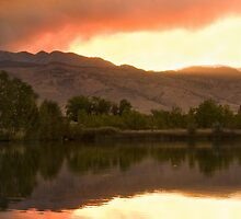 Sunset Over Coot Lake 4Mile Fire Boulder County by Bo Insogna