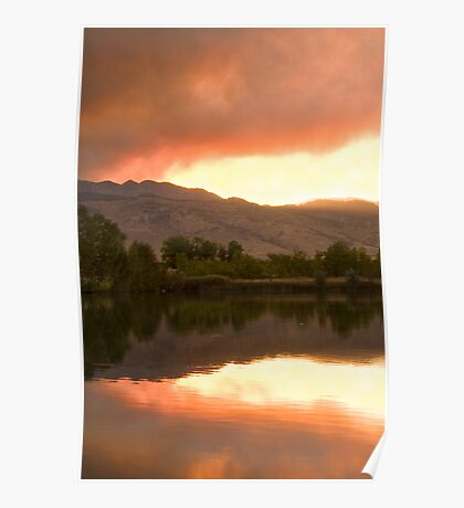 Sunset Over Coot Lake 4Mile Fire Boulder County Poster