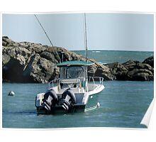 Fishing Boat in Gooseneck Cove - Newport - Rhode Island Poster