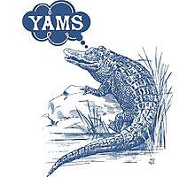 Thinking of yams funny crocodile alligator Photographic Print