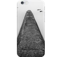 Concrete jetty in a smooth ocean iPhone Case/Skin