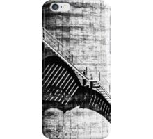 Industrial staircase creates abstract shadows and lines iPhone Case/Skin