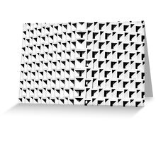 Square architectural details give monochromatic shadows Greeting Card