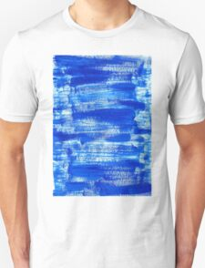 Cool & Calming Cobalt Blue Paint on White  T-Shirt