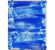 Cool & Calming Cobalt Blue Paint on White  iPad Case/Skin