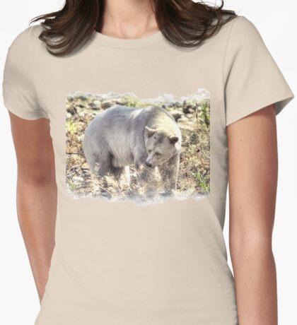 Rare Kermode Bear (Spirit Bear) Womens Fitted T-Shirt