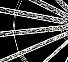 Ferris wheel abstract by Dervishimages