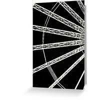 Ferris wheel abstract Greeting Card