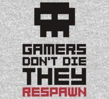 Pixel Skull Gamers Don't Die - Dark Version One Piece - Long Sleeve