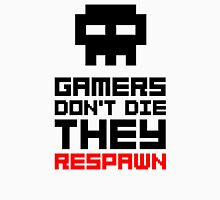 Pixel Skull Gamers Don't Die - Dark Version Unisex T-Shirt