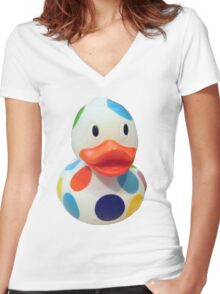 Rubber Ducky Women's Fitted V-Neck T-Shirt