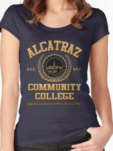 ALCATRAZ COMMUNITY COLLEGE Women's Fitted Scoop T-Shirt