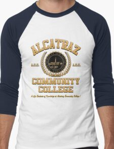 ALCATRAZ COMMUNITY COLLEGE Men's Baseball ¾ T-Shirt