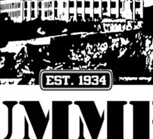 ALCATRAZ SUMMER CAMP blk Sticker