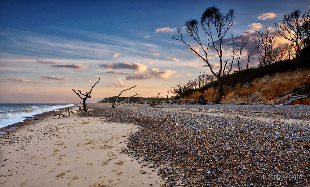 Summer evening at Benacre Beach, UK by Kathy Wright