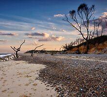 Summer evening at Benacre Beach, UK by Kathy Wright