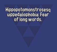 Hippopotomonstrosesquippedaliophobia: Fear of long words. by margdbrown