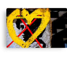 Berlin - Hate and Love. Canvas Print