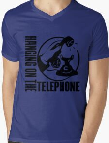 HANGING ON THE TELEPHONE Mens V-Neck T-Shirt