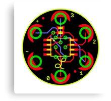 Arduino Minifade Reference Design - T-Shirt Black Fill Canvas Print