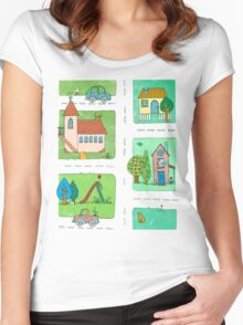 A Quiet Afternoon in Town Women's Fitted Scoop T-Shirt