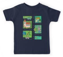 A Quiet Afternoon in Town Kids Tee