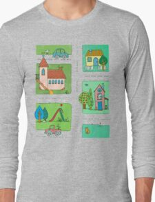 A Quiet Afternoon in Town Long Sleeve T-Shirt