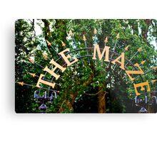 The Maze: Crystal Palace, London, UK. Metal Print