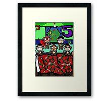 The Superheroes Alphabet- 5 little monkeys Framed Print