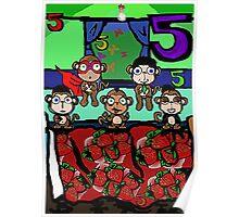 The Superheroes Alphabet- 5 little monkeys Poster
