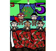 The Superheroes Alphabet- 5 little monkeys Photographic Print