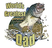 Worlds greatest dad Photographic Print