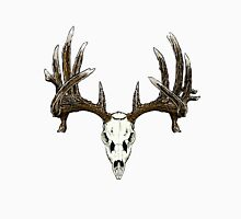Whitetail deer skull  Unisex T-Shirt
