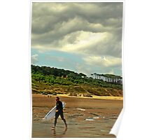 CLOUDINESS ON THE BEACH Poster