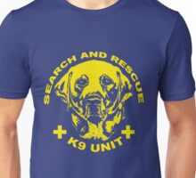 Search and rescue K9 unit yellow Unisex T-Shirt
