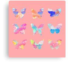 Watercolor Butterflies Canvas Print