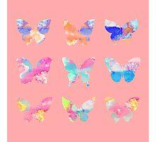 Watercolor Butterflies Photographic Print