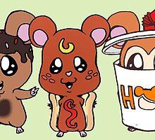 Food Hamsters by DarkNerd