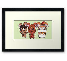 Food Hamsters Framed Print