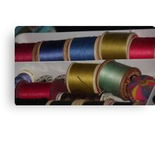 coloured thread Canvas Print