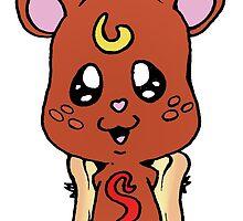 Hot Dog Hamster by DarkNerd