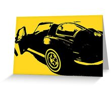 Classic Sports Car  Greeting Card