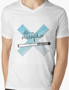 IT'S A METAPHOR TFIOS THE TAULT IN OUR STARS TUMBLR STICKER SHIRT BAG CASE Mens V-Neck T-Shirt