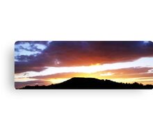Brent Knoll at Sunset Canvas Print