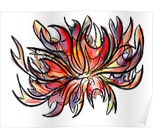 Orchid Swirl Poster