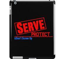 Serve, Protect iPad Case/Skin