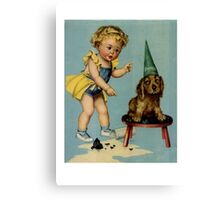 Dog Party Canvas Print